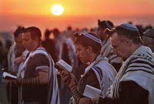 Jewish men praying